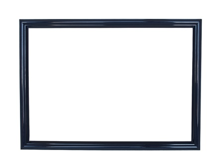 black picture frame: Black antique frame on white background