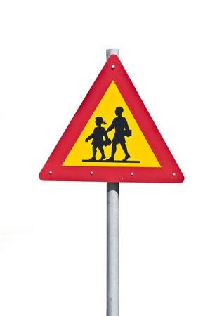 Traffic sign (School warning sign)  photo