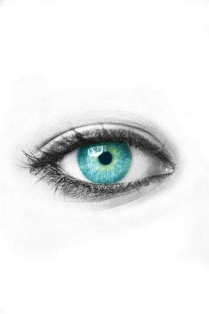 sch�ne augen: Blaues Auge Lizenzfreie Bilder