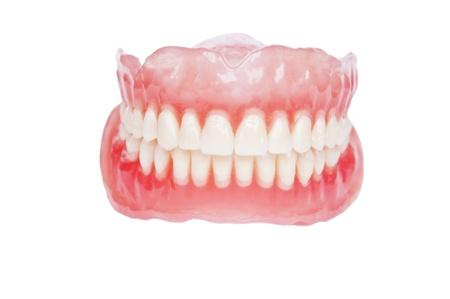 dentadura postiza: Pr�tesis dental close up
