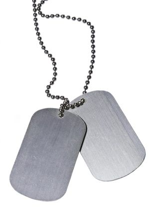 Military ID tags photo