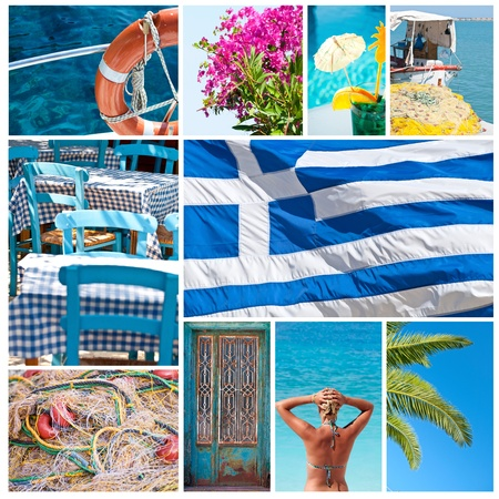 Greece collage Stock Photo - 10878363