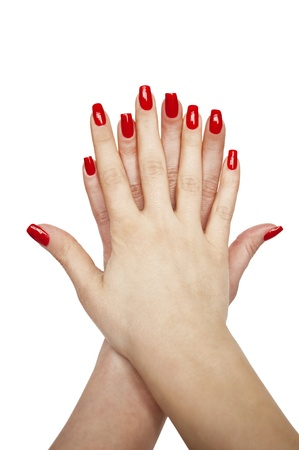 10 fingers: Manicured woman hands