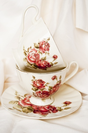 Vintage tea cups photo