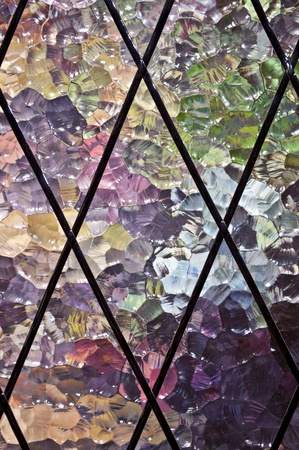 Stained glass showing pattern