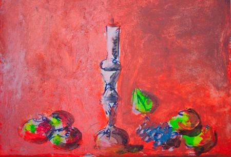 odors: Still life painting sketch