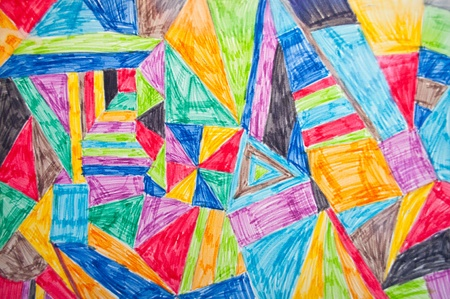 crayon drawing: Colorful background Stock Photo