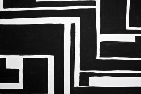 Abstract black and white painted background photo