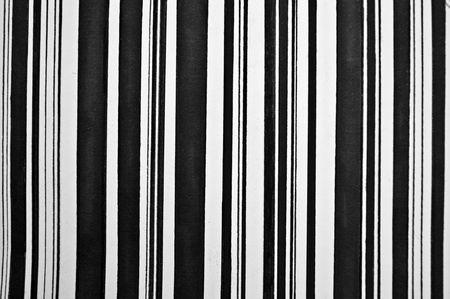 Abstract vertical black and white painted stripes photo