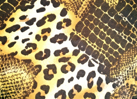Texture of various animal skin in textile pattern photo
