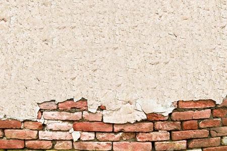 pared rota: Grunge pared de ladrillo con espacio para texto