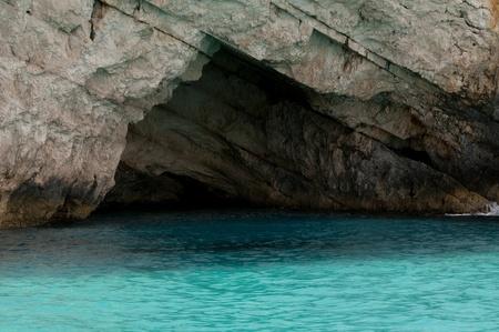 Famous Blue caves region in Zakynthos island in Greece  photo