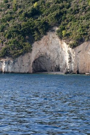 Caves on island of Zakynthos Greece  photo