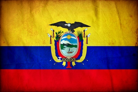 Ecuador grunge flag photo