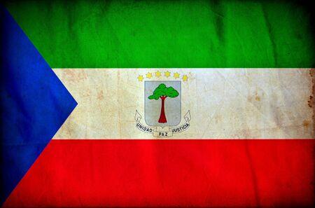 equatorial guinea: Equatorial Guinea grunge flag