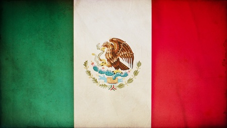 green flag: Mexico grunge flag
