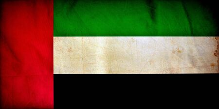 United Arab Emirates grunge flag photo