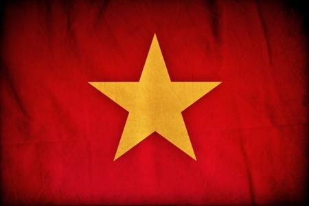 Vietnam grunge flag photo