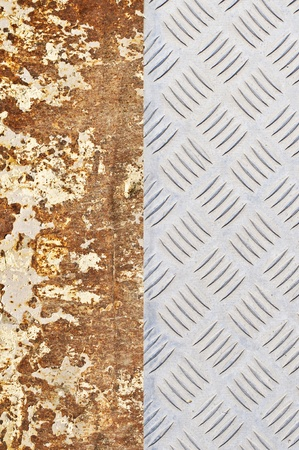 rusted: Rusted and diamond metal background Stock Photo