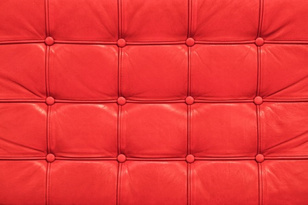 Vintage red leather sofa texture photo