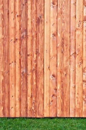 Wood and grass background Stock Photo - 11677892