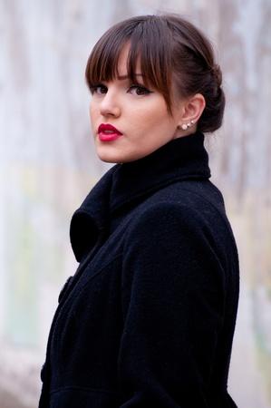 Portrait of beautiful woman fashion model photo