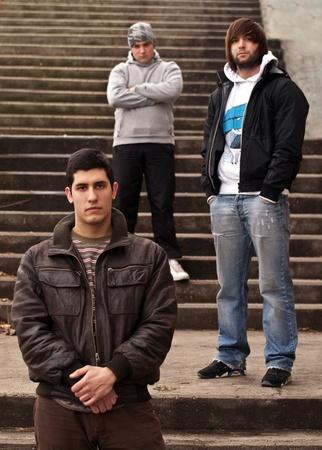 gang: Band members posing