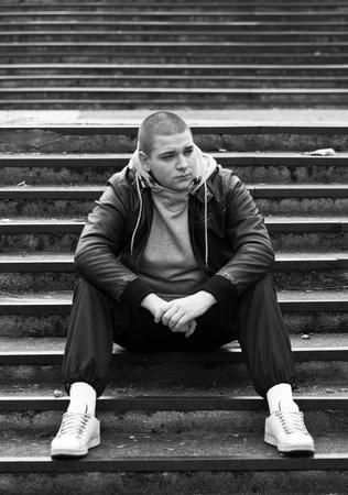 Hip-Hop dance posing outside photo