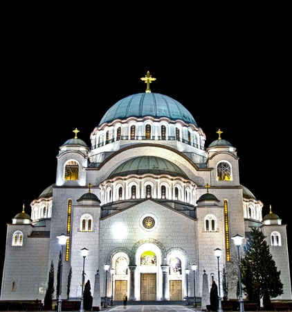serb: Saint Sava temple in HDR