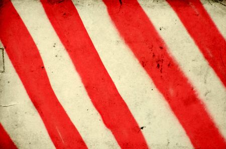 Grunge background with red and white stripe pattern  photo
