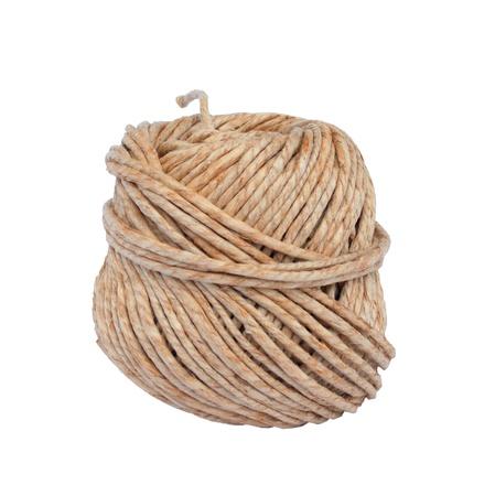 Rope isolated on white background photo