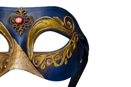 Mask from Venice isolated on white