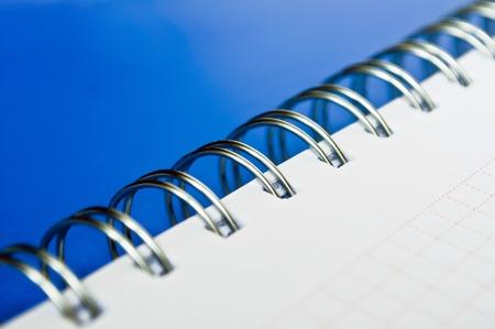 spiral binding: Notebook detail macro shot Stock Photo