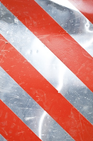 Grunge silver warning background with red stripes  Stock Photo - 12070181