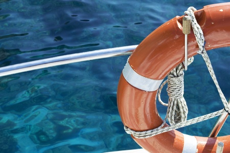 Life buoy attached to the cruise ship  photo