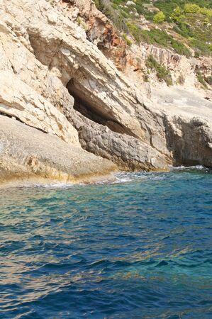 Coastline of Zakynthos Greece  photo