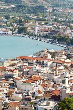 ionio: Zakynthos island in Greece - View of the port from Mpochali hill