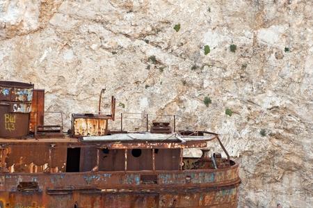 Ship wreck on Navagio beach - Zakynthos island photo
