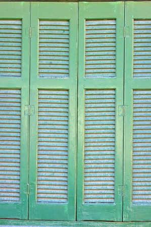 Traditional Greek window background  photo