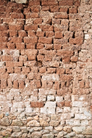 Mud brick wall photo