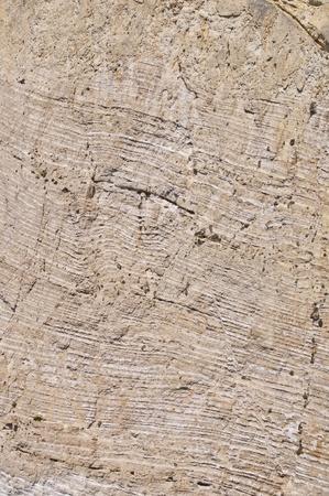 sedimentation: Striped rock texture - Stone sedimentation  Stock Photo