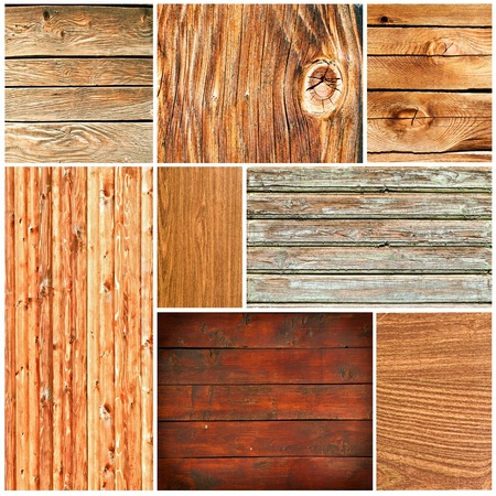 Wood textures collage Stock Photo - 12246627