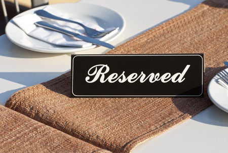 Restaurant reservation concept Stock Photo - 12246417