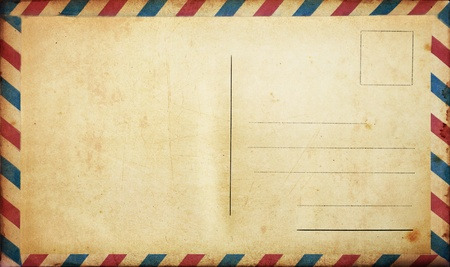 write a letter: Blank vintage postcard