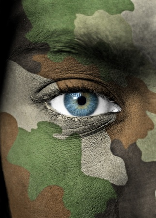 american soldier: Soldier portrait Stock Photo