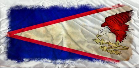 American Samoa grunge flag photo
