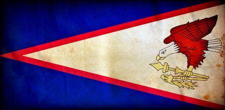 American Samoa grunge flag photo