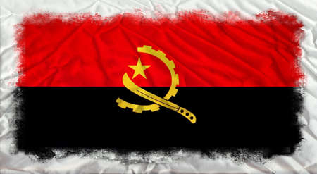 angola: Angola grunge flag