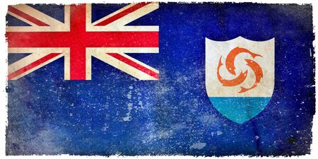 Anguilla grunge flag photo