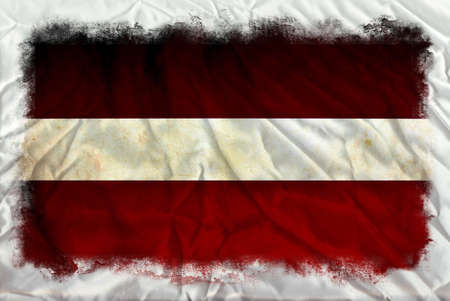 Austria grunge flag photo
